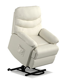 ProLounger® Wall Hugger Power Recline and Lift Chair in Cream Renu Leather