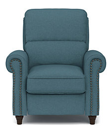 ProLounger® Push Back Recliner Chair in Blue Linen