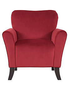 Sean Arm Chair in Ruby Red Velvet