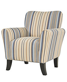 Sean Arm Chair in Blue Stripe