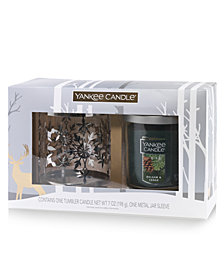 Yankee Candle Holiday Snowflake Tumbler Candle Set