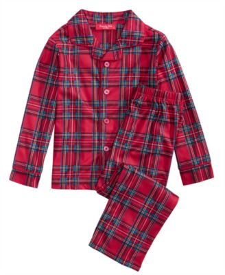 Matching Brinkley Plaid Pajama Set, Available in Toddlers and Kids, Created For Macy's
