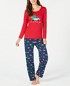 Matching Family Pajamas Women's Are We There Yet Pajama Set, Created for Macy's