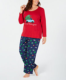 Matching Family Pajamas Plus Size Women's Are We There Yet Pajama Set, Created For Macy's