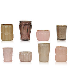 Mercury Light Pink Glass Tealight Holders, Set of 8