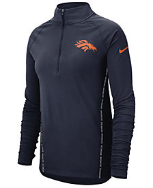 Nike Women's Denver Broncos Element Core Quarter-Zip Pullover