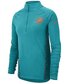 Nike Women's Miami Dolphins Element Core Quarter-Zip Pullover