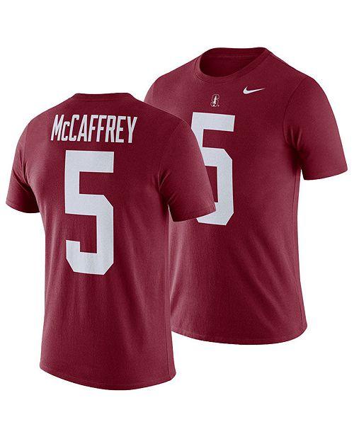 Nike Men's Christian McCaffrey Stanford Cardinal Name and Number T-shirt