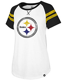 '47 Brand Women's Pittsburgh Steelers Flyout Raglan T-Shirt