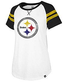 '47 Brand Women's Pittsburgh Steelers Flyout Raglan T-Shirt