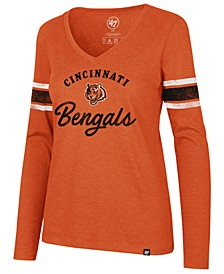 Women's Cincinnati Bengals Spirit Script Long Sleeve T-Shirt