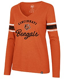 '47 Brand Women's Cincinnati Bengals Spirit Script Long Sleeve T-Shirt