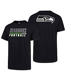 '47 Brand Men's Seattle Seahawks Fade Back Super Rival T-Shirt