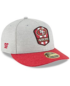 e77921bd9e2 New Era San Francisco 49ers On Field Low Profile Sideline Road 59FIFTY  FITTED Cap