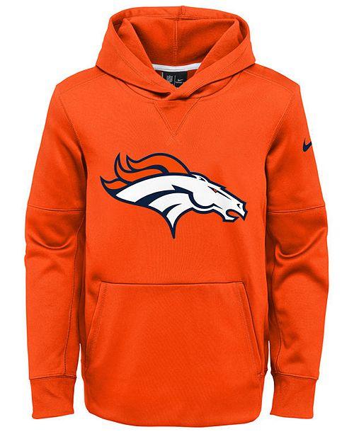Nike Denver Broncos Circuit Logo Hoodie, Big Boys (8-20)