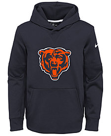 Nike Chicago Bears Circuit Logo Hoodie, Big Boys (8-20)
