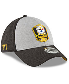 New Era Pittsburgh Steelers On Field Sideline Road 39THIRTY Stretch Fitted Cap