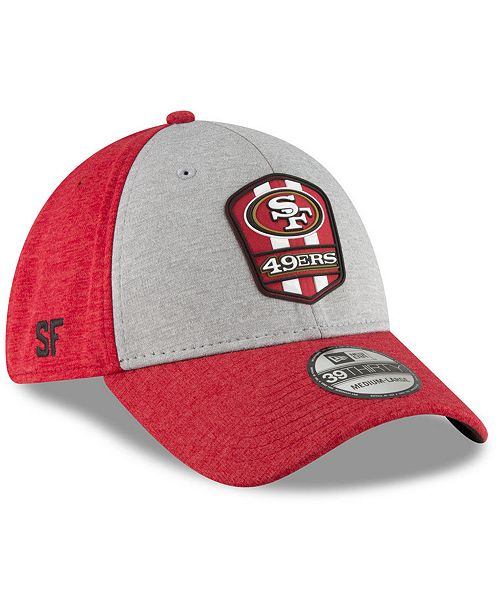 on sale c4be8 8fc50 ... New Era San Francisco 49ers On Field Sideline Road 39THIRTY Stretch  Fitted Cap ...