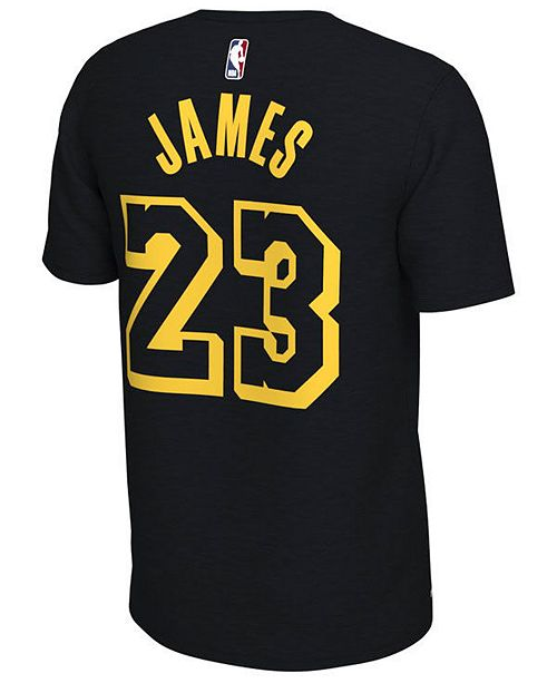 ... Nike Men s LeBron James Los Angeles Lakers City Player T-Shirt ... 6eaeb7550