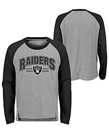 Outerstuff Oakland Raiders Audible Long Sleeve T-Shirt, Big Boys (8-20)