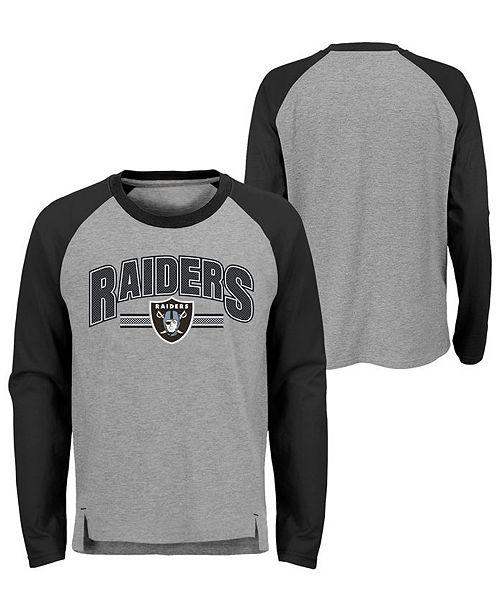 97776de6 Oakland Raiders Audible Long Sleeve T-Shirt, Big Boys (8-20)