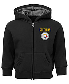 Outerstuff Pittsburgh Steelers Zone Full-Zip Hoodie, Toddler Boys (2T-4T)