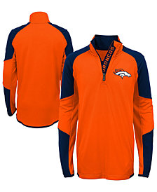 Outerstuff Denver Broncos Beta Quarter-Zip Top, Big Boys (8-20)