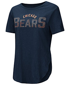 Touch by Alyssa Milano Women's Chicago Bears Touch Rosegold Stone T-Shirt
