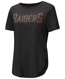 Touch by Alyssa Milano Women's Oakland Raiders Touch Rosegold Stone T-Shirt