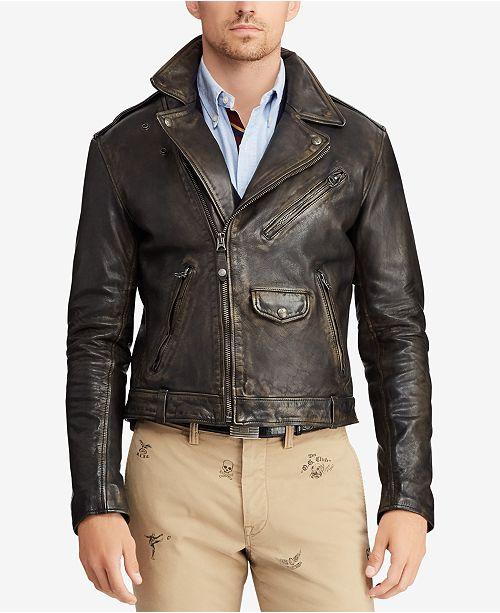 Men's Moto Ralph Coats Reviews Lauren Polo Jacketamp; Leather LqGpSUMVz