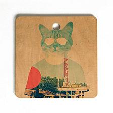 Deny Designs Ali Gulec Cool Cat Cutting Board