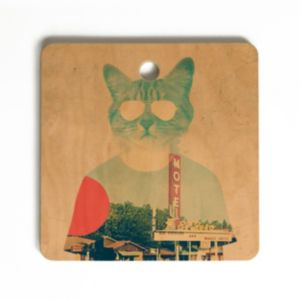 Deny Designs Ali Gulec Cool Cat Cutting Board 6143575