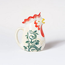 Vietri Gather Rooster Small Pitcher