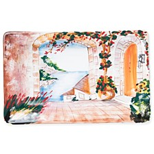 Vietri Landscape Inside Looking Out Rectangular Wall Plate