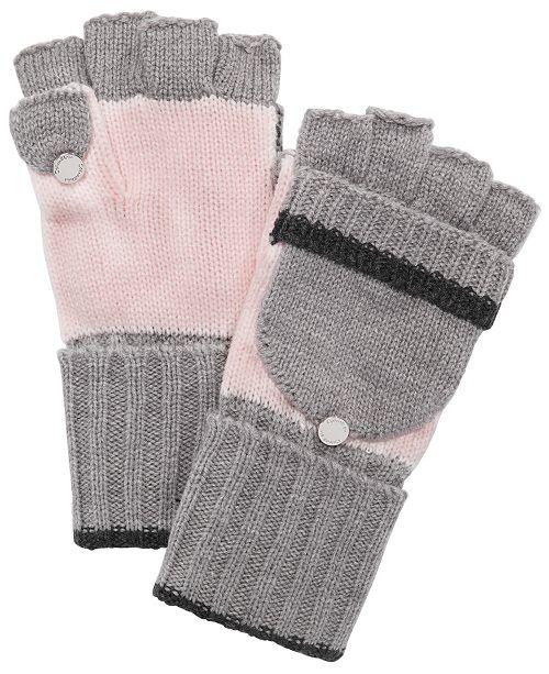 Calvin Klein Colorblocked Flip-Top Gloves