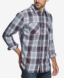 Weatherproof Vintage Men's Burnout Plaid Flannel Utility Shirt