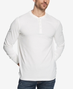 Men's Vintage Workwear Inspired Clothing Weatherproof Vintage Mens Heathered Henley $17.60 AT vintagedancer.com