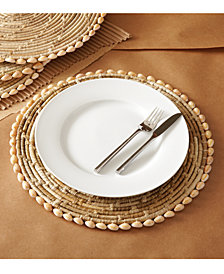 Set of 4 Pandan and Seashell Placemats