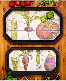 Farm To Table Set of 2 Gallery Trays Includes 2 Sizes
