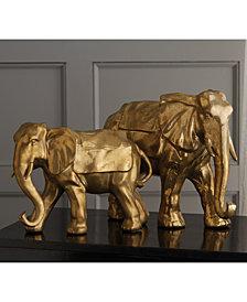 Set of 2 Golden Lucky Elephants