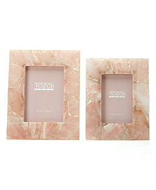 Pink Quartz Set of 2 Photo Frames in Gift Box Includes 2 Sizes