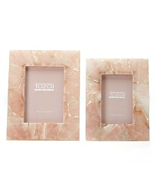 Two's Company Pink Quartz Frames, Set of 2