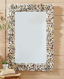 Oyster Bay Rectangle Shell Wall Mirror