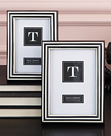Set of 2 Black and White Photo Frames Includes 2 Sizes