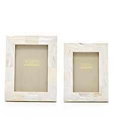 Pearly White Frames, Set of 2