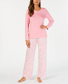 Charter Club Soft Knit Pajama Set, Created for Macy's