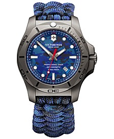 Men's Swiss I.N.O.X. Professional Diver Blue Paracord Strap Watch 45mm