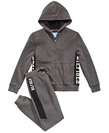 Tommy Hilfiger Big Boys Marled Fleece Hoodie & Sweatpants Separates
