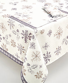 "Lenox Alpine Sparkle 70"" Round Tablecloth"