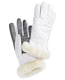 UGG® Shearling-Trim Touchscreen Gloves